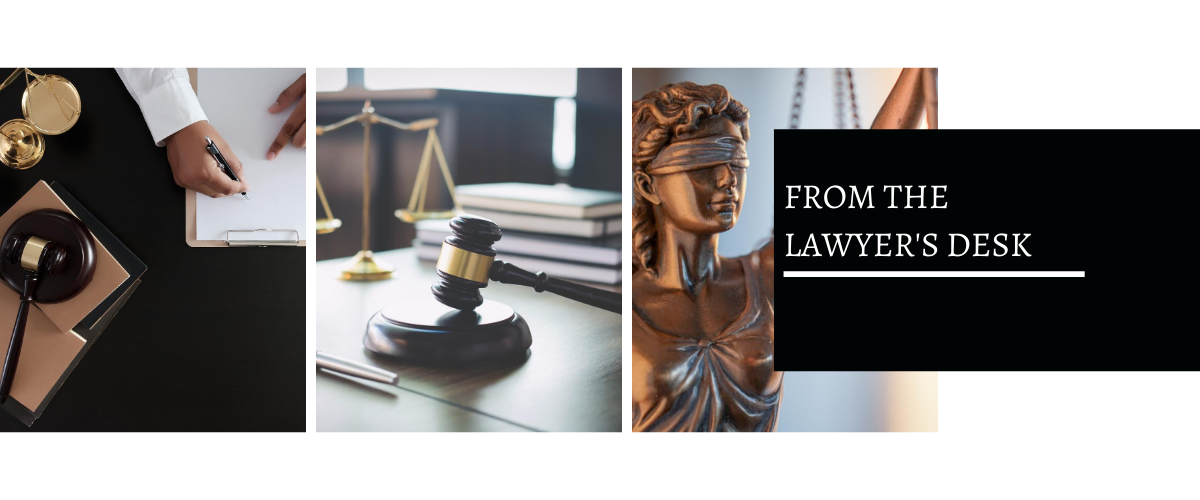 From the Lawyer's Desk, Legal Blog, Law
